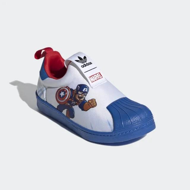 【adidas官方旗艦館】童鞋 MARVEL 美國隊長 SUPERSTAR 360 經典鞋 男童/女童(FX4879)