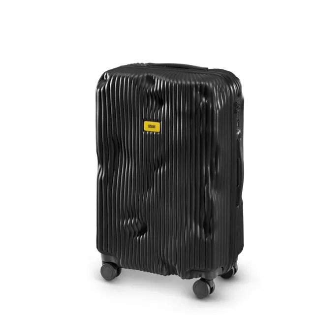 【義大利Crash Baggage】條紋防撞行李箱25吋(酷黑)
