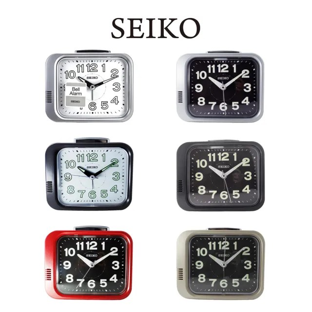 【SEIKO 精工】QHK028 經典復古大聲響鈴夜光指針鬧鐘