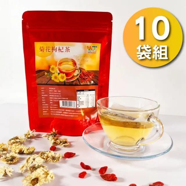 【王媽媽推薦】銅鑼杭菊枸杞茶10袋護眼組(2公克*10入)