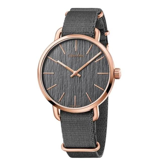 【Calvin Klein】CK超然系列腕錶45mm加贈米色帆布錶帶(K7B216P3)