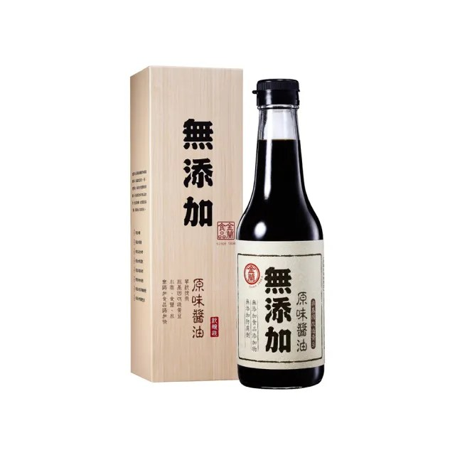 【金蘭食品】無添加原味醬油500ml(無添加/原味/料理/健康/純粹/安心/推薦/外出/宅在家/居家/吃飯/做菜)