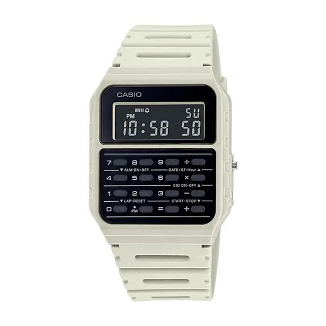 【CASIO 卡西歐】復古計算機電子錶 橡膠錶帶 全自動日曆 日常生活防水(CA-53WF-8B)