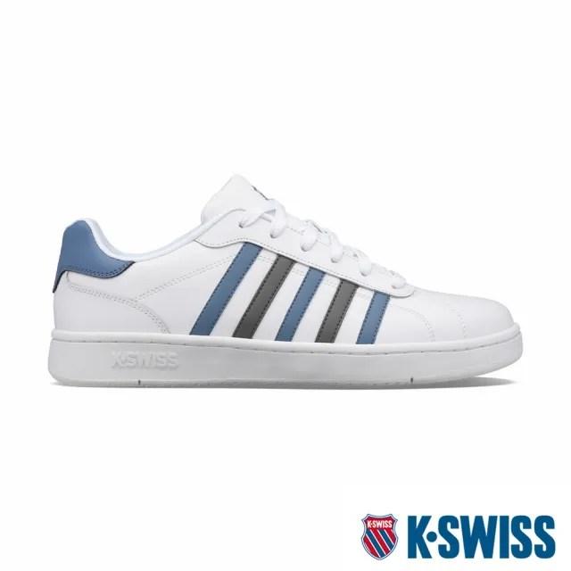 【K-SWISS】時尚運動鞋 Montara-男-白/灰/藍(06922-125)