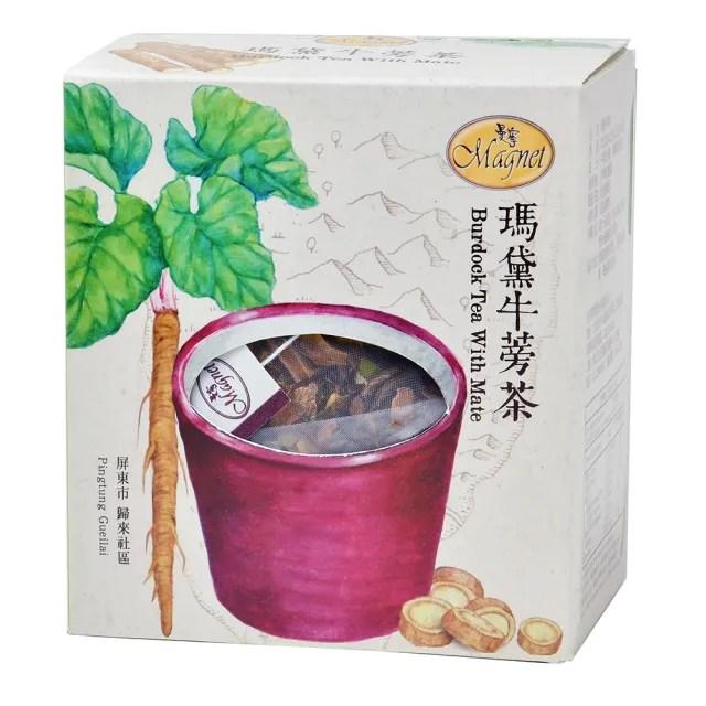 【曼寧】台灣瑪黛牛蒡茶包5gx15入輕巧盒(台灣牛蒡、瑪黛茶、平民的人蔘)