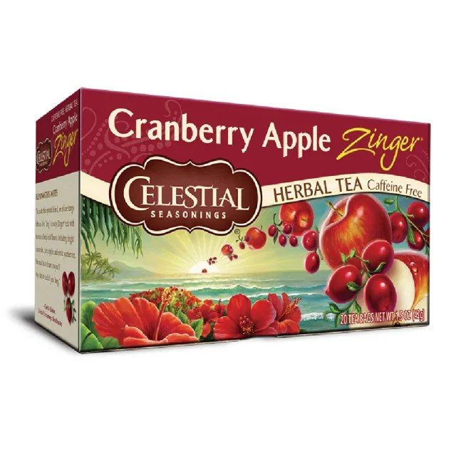 【即期品】Celestial 詩尚草本 蔓越莓蘋果活力茶20環保包(效期2022.02)