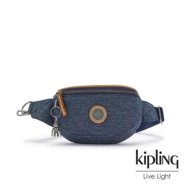 【KIPLING】深色丹寧藍小巧簡約腰包-JOSU