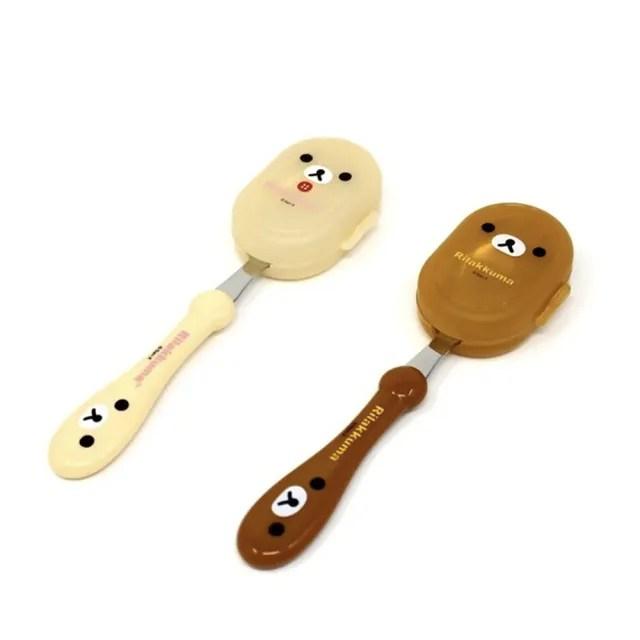 【Rilakkuma 拉拉熊】可愛限定 不鏽鋼造型湯叉 餐具 小米(正版授權 304不鏽鋼 兒童湯匙)