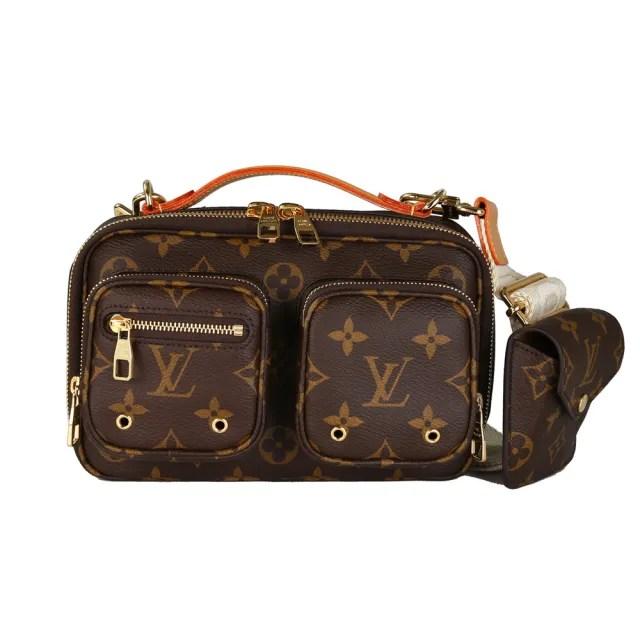 【Louis Vuitton 路易威登】M80446 Utility經典塗層帆布手提斜背包(老花)