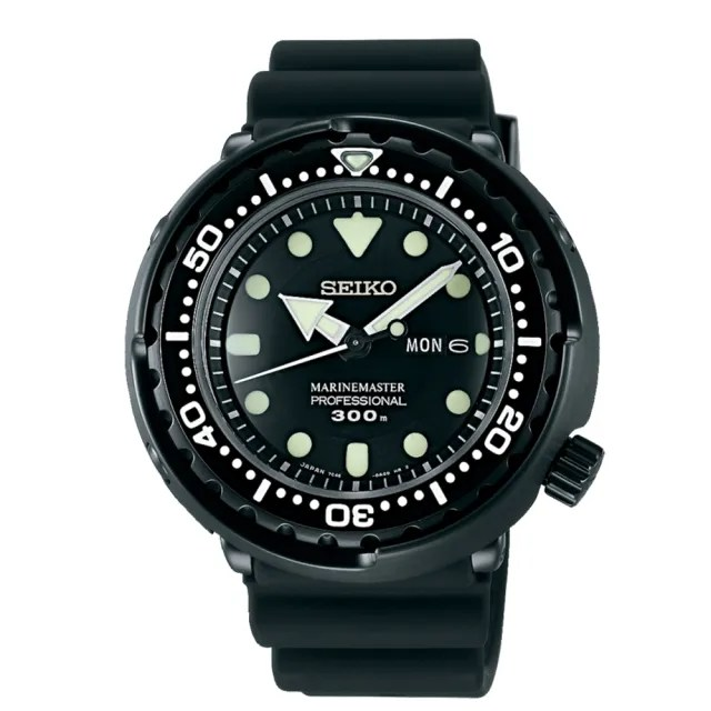 【SEIKO 精工】PROSPEX 限量夜光鮪魚罐頭專業潛水錶48mm(7C46-0AG0D/SBBN035J)