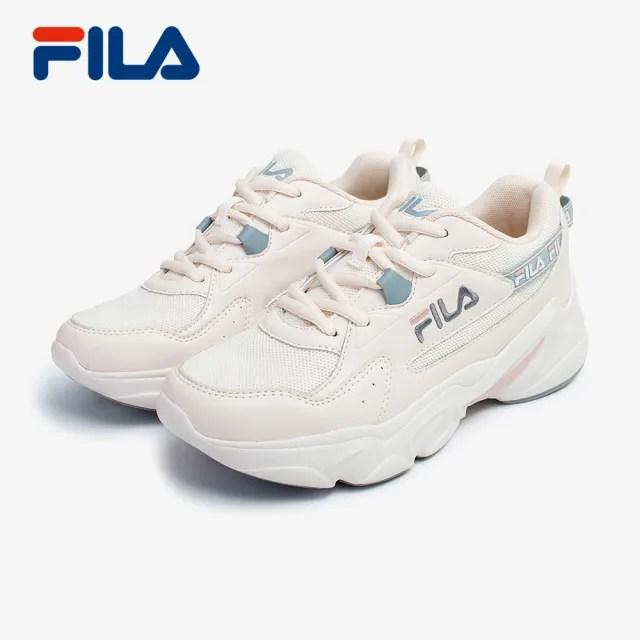 【FILA】FILA HIDDEN TAPE 3 奶茶色 老爹鞋 女運動慢跑鞋(5-J929V-177)