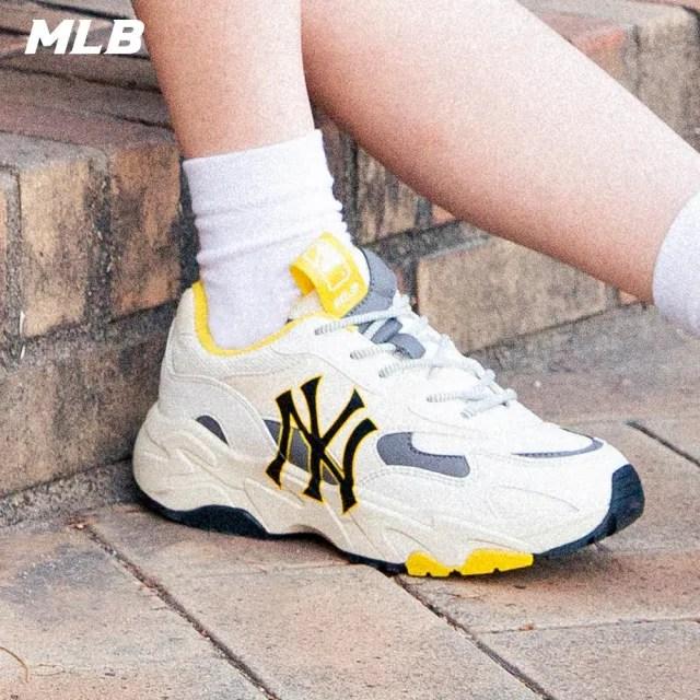 【MLB】老爹鞋 拼接撞色休閒鞋 側邊Logo 紐約洋基隊(3ASHC311N-50MSD)