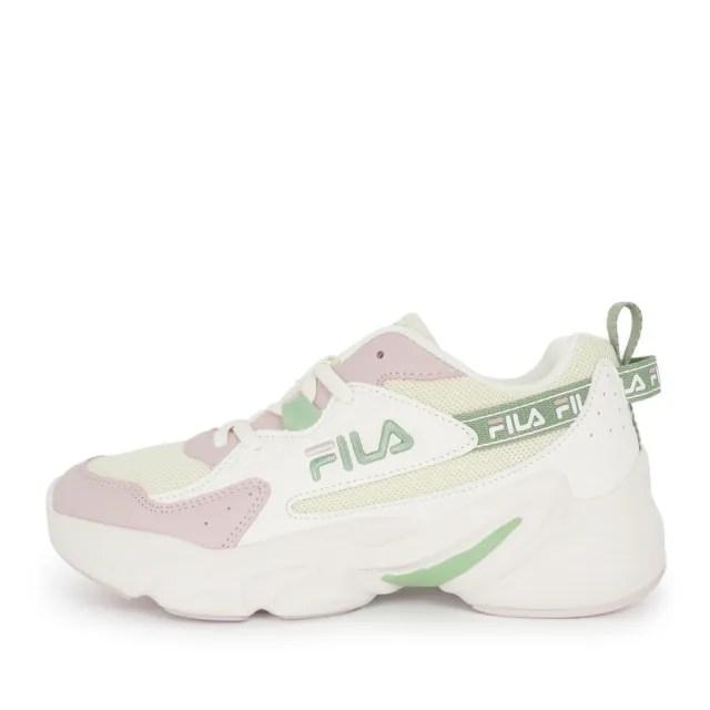 【FILA】Fila HIDDEN TAPE 3 女 運動休閒鞋 復古 舒適 老爹鞋 米 粉綠(5-J929V-155)