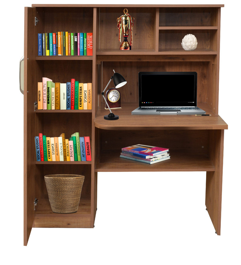 Buy Study Table In Knotty Wood Finish By Crystal Furnitech