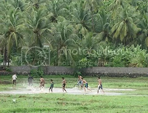 Football fever in the monsoon...