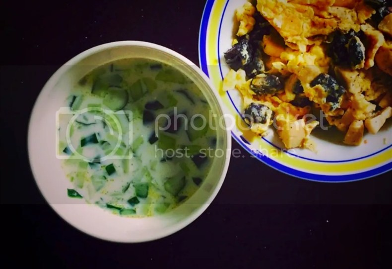 My homemade cucumber yoghurt shoup