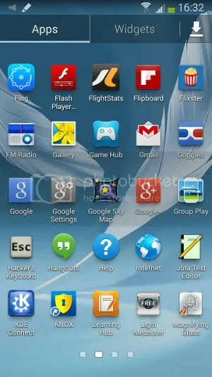 KDE Connect app icon on my Samsung Galaxy Note II