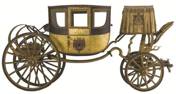 Per viaggi imperiali. Jean Ernest Auguste Getting (1766-1846), «Berlina di gala napoleonica», Parigi, (1805 circa). Nichelino (To), Palazzina di caccia di Stupinigi