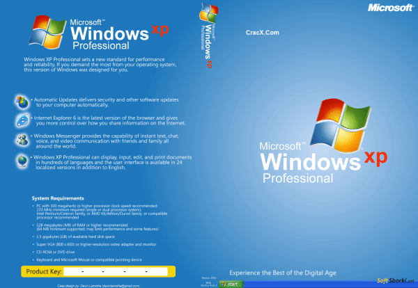 Windows XP ISO SP3 64bit + 32bit Free Download