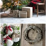Shabby Chic Tea Stained Paper Farmhouse Wooden Christmas