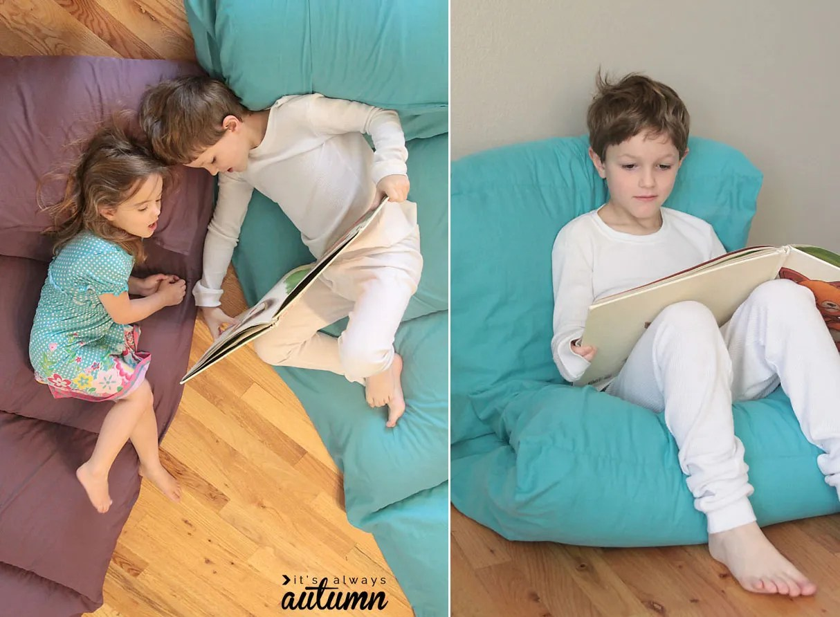 easy way to make a kids pillow bed