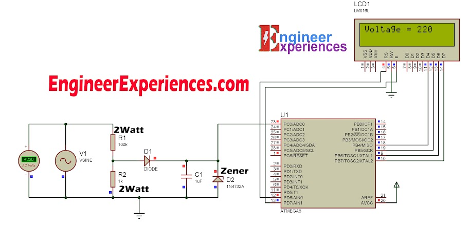AC Voltage Measurement Without Transformer