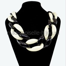 Rantai Kalung Massive Black & White