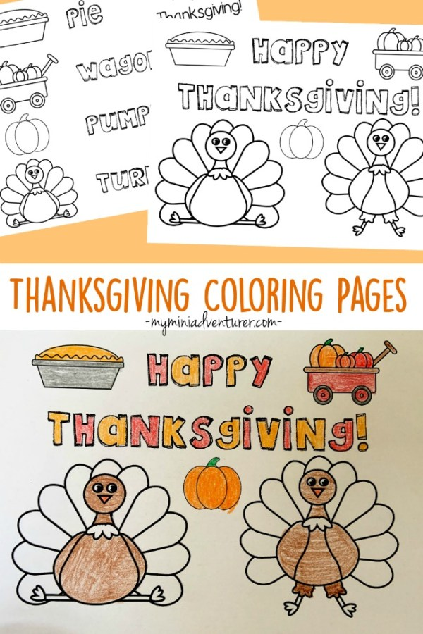 thanksgiving color pages free # 43