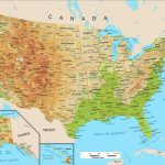 Large Political Physical Geographical Map Of United States Of America Whatsanswer