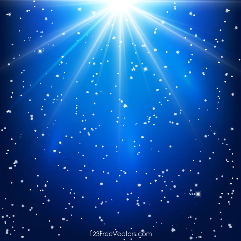 Shining Stars Abstract Blue Background with Light Rays ...