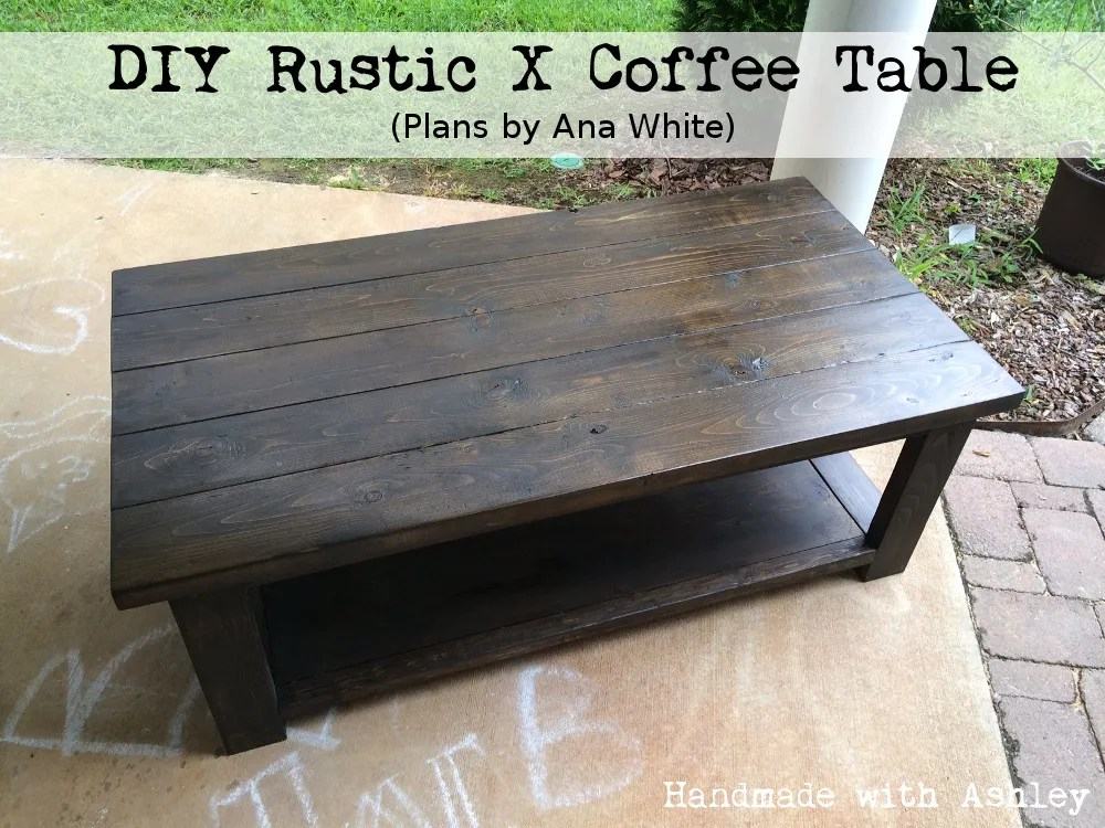 diy rustic x coffee table plans by ana