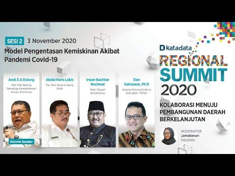 Sesi 2: Model Pengentasan Kemiskinan Akibat Pandemi Covid-19   Regional Summit 2020