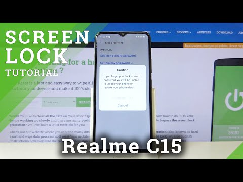 How to Set Lock Method in REALME C15 – Find Lock Options