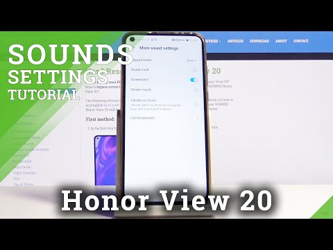 How to Activate Dial Pad Sounds on Honor View 20 – Sound Settings