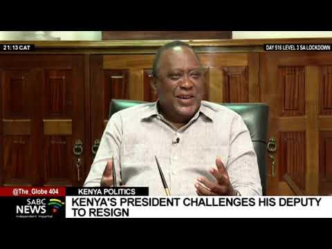 Kenya's President Kenyatta challenges his Deputy William Ruto to resign
