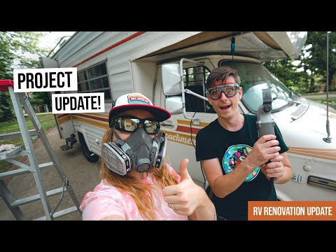 Vintage RV Renovation PROJECT UPDATE! + How Much Have We Spent??