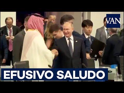 EFUSIVO SALUDO de PUTIN y el PRÍNCIPE SAUDITA Mohamed bin Salman en la cumbre del G-20