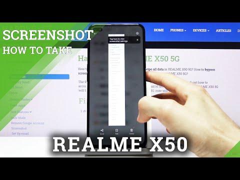 How to Make Screenshot in REALME X50 – Save Display