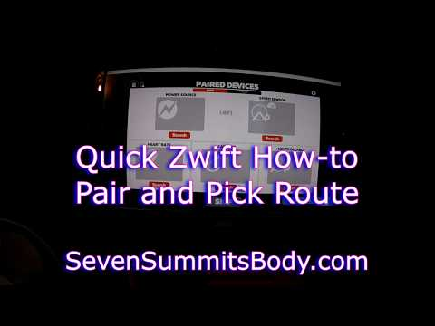 Zwift Quick How-To - Pair and Select Route