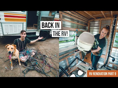 RV Renovation PART 9 - FINALLY Ripping out the Toilet and Black Water Tank! 💩 & MORE!