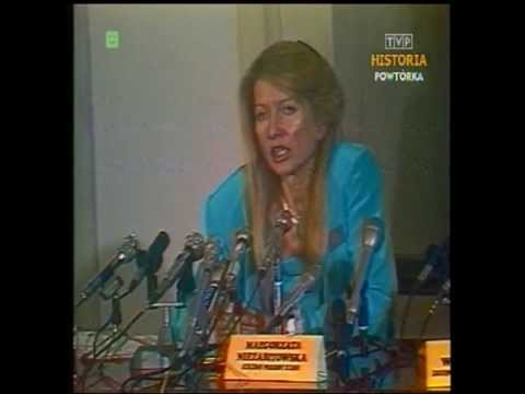 28 sierpnia 1989 roku. Pierwsza konferencja prasowa rzecznik rządu Małgorzaty Niezabitowskiej