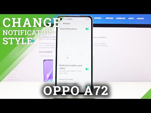How to Manage Messages Notifications in OPPO A72 - Turn Off Messages' Notifications
