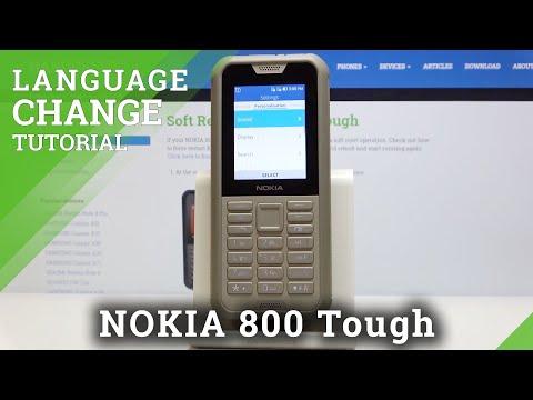 How to Change Language in NOKIA 800 Tough – Language List