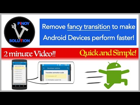How to make android faster (using developer options)