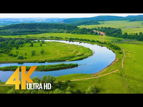 Amazing URAL Nature in 4K, Russia - Nature Relax with Calming Music & Nature Sounds - 3 HRS