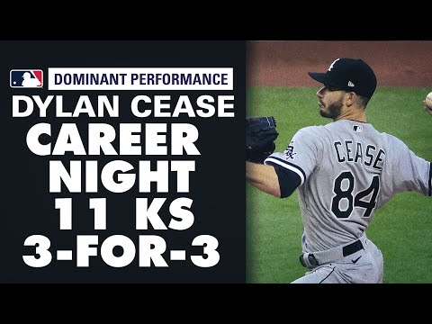 Dylan Cease strikes out 11 and records THREE hits! (Career night for Dylan Cease)