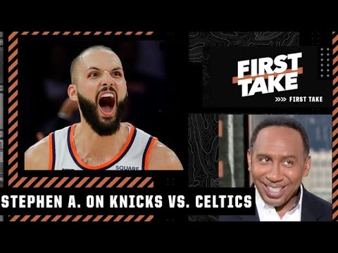 Stephen A. reacts to the Knicks' 2OT win over the Celtics: 'NEW YORK STAND UP!' | First Take