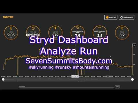 Stryd Dashboard - using the Analyze tab