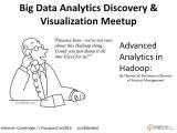 Advanced #Analytics in #Hadoop