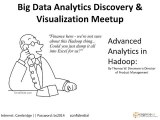 Advanced #Analytics in #Hadoop